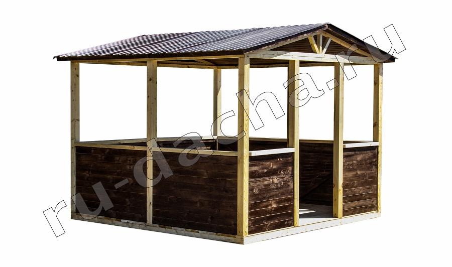 Беседка деревянная 3*3м