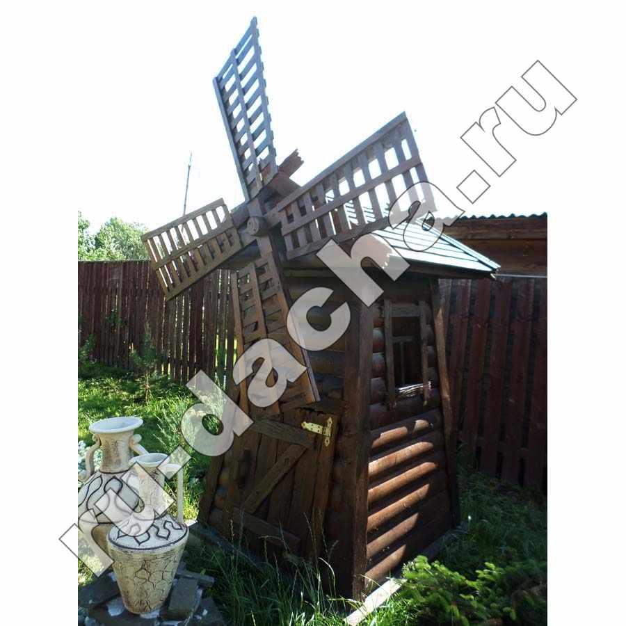схема деревянной мельницы