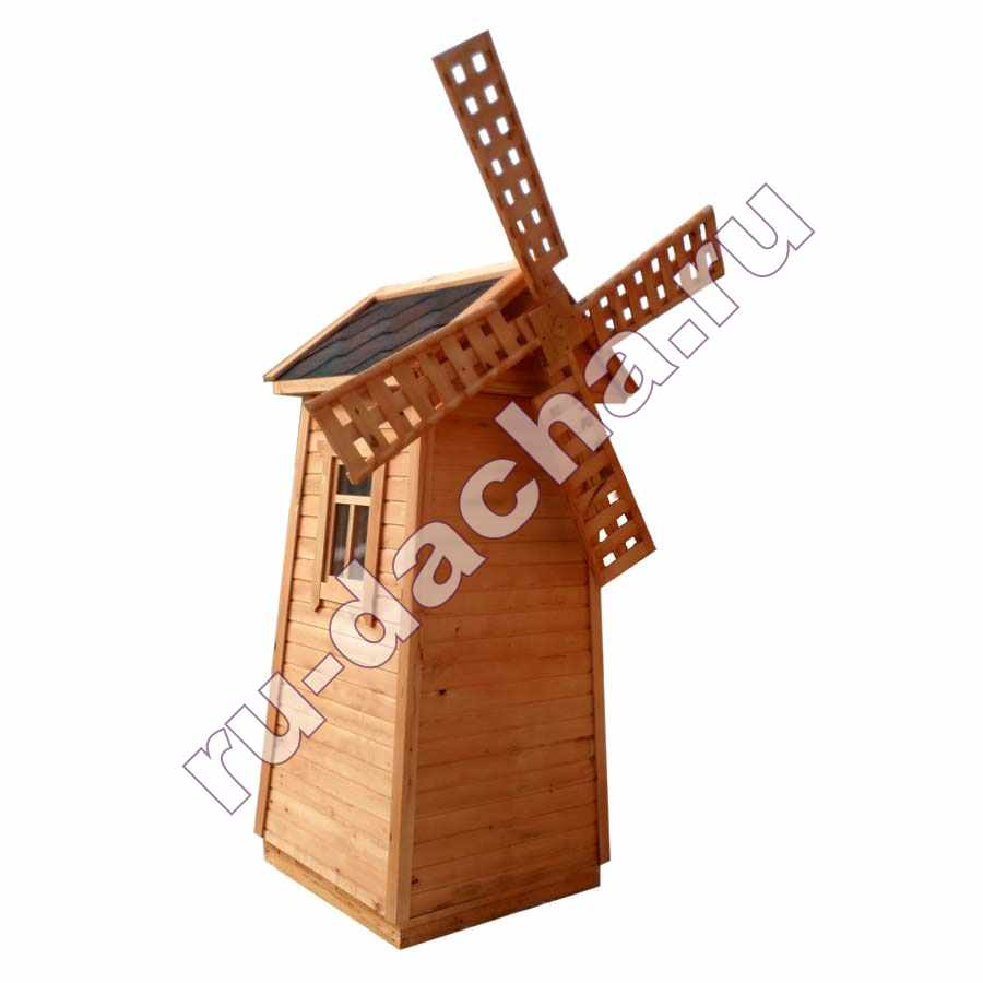 Туалет деревянный Мельница