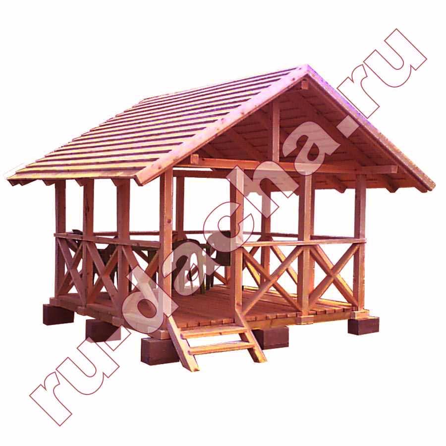 Беседка для дачи деревянная