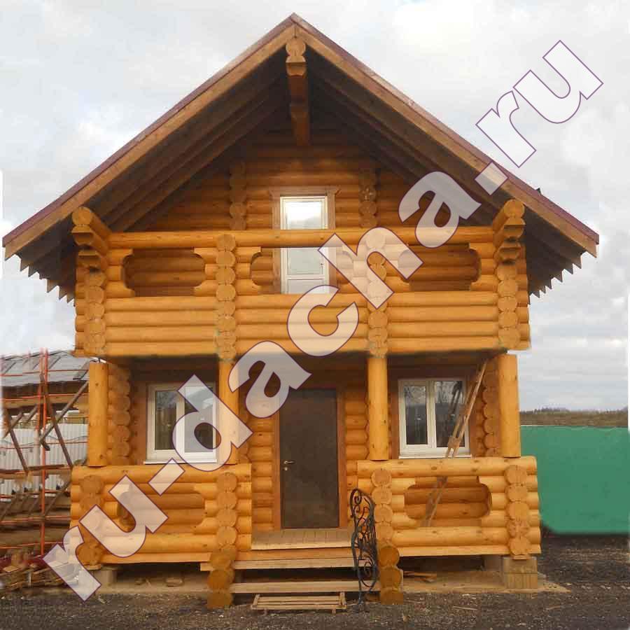 Дом из оцилиндрованного бревна 6х7 метров