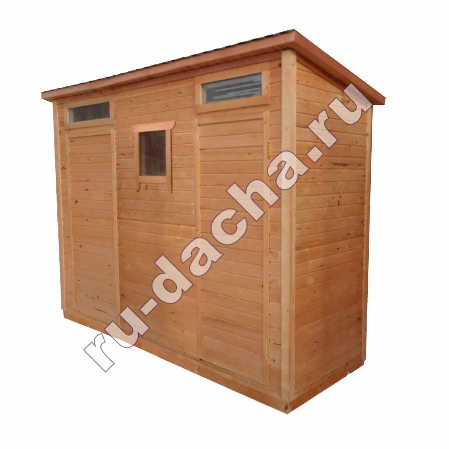 Хозблок деревянный 3х1 метр двухсекционный