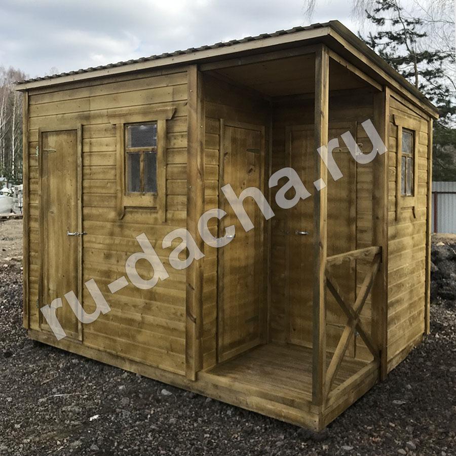 Туалет душ хозблок 3х2 м.