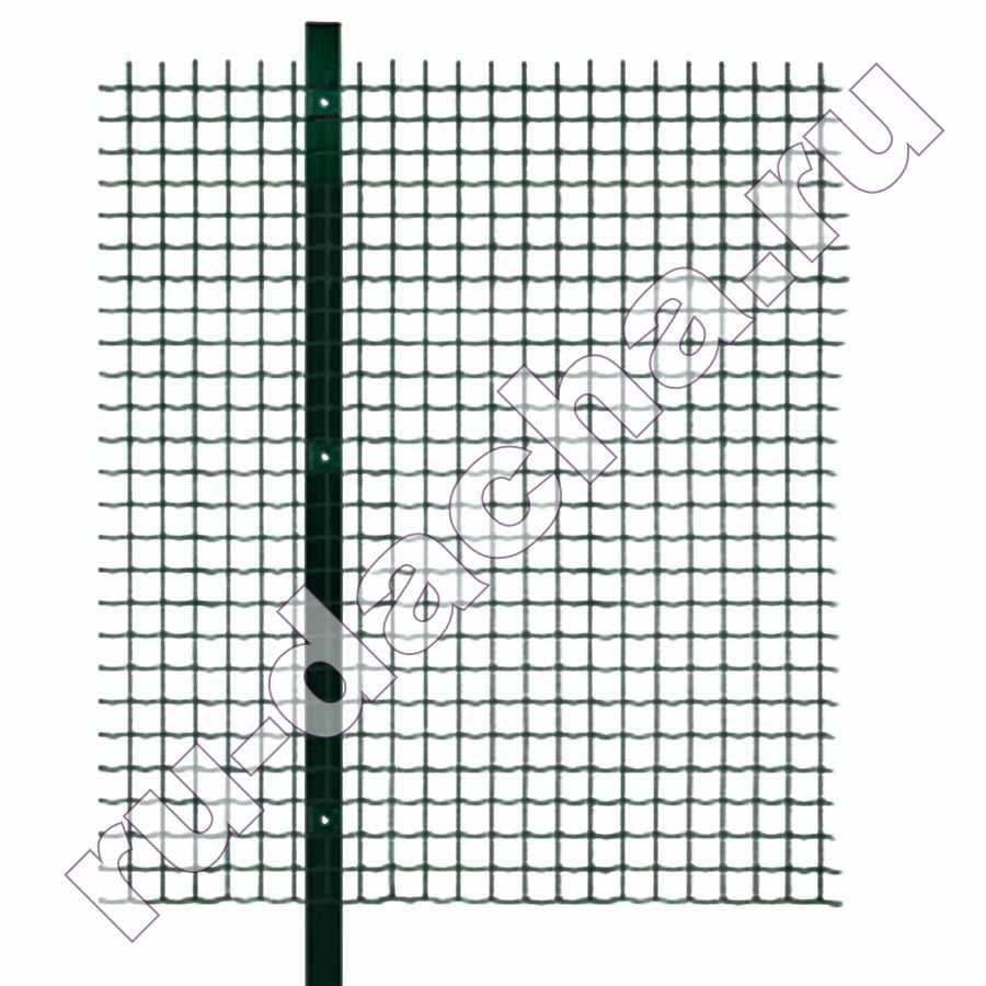 Забор из сварной сетки с полимерным покрытием 2 метра высотой