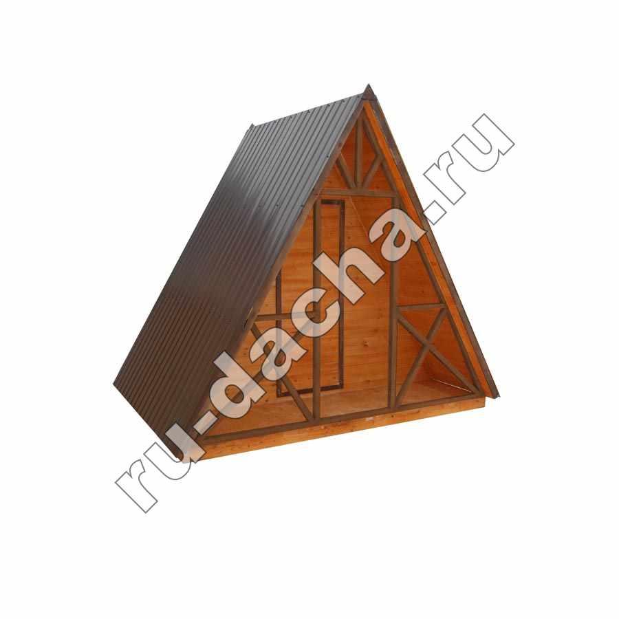 Деревянный туалет «Шалаш»