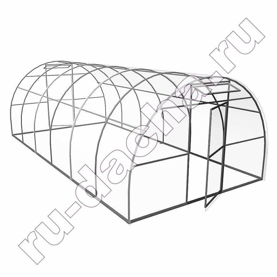 Теплица  из поликарбоната усиленная (4х3х2)