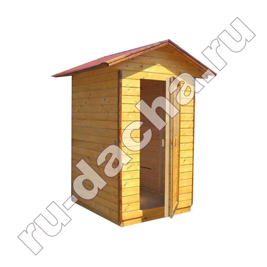Туалет деревянный «Домик» 1,2х1,2 метра.