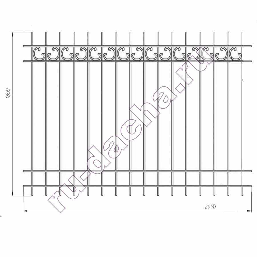 забор металлический секционный М-1