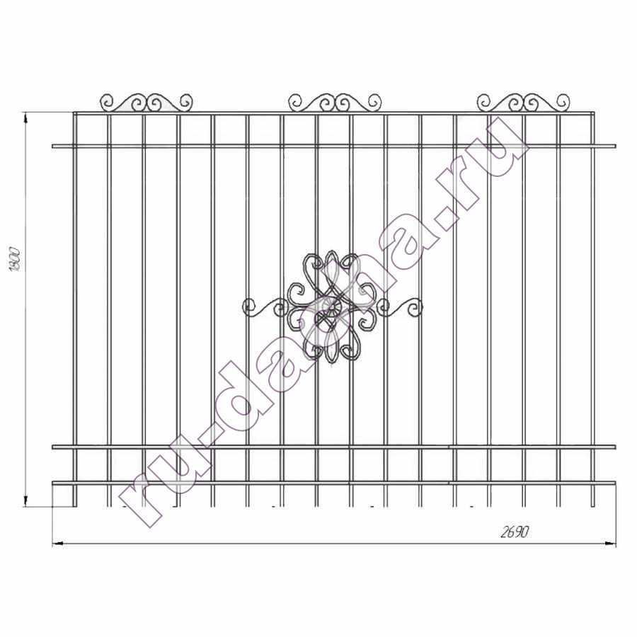 забор металлический секционный М-8