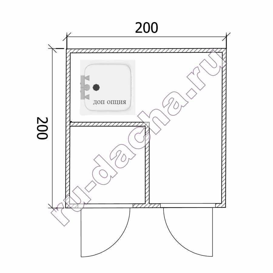 Как построить туалет с хозблоком на даче своими руками размеры чертежи 33